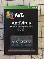 Avg Antivirus 2015 - 1 User 2 Years - Windows Retail Box