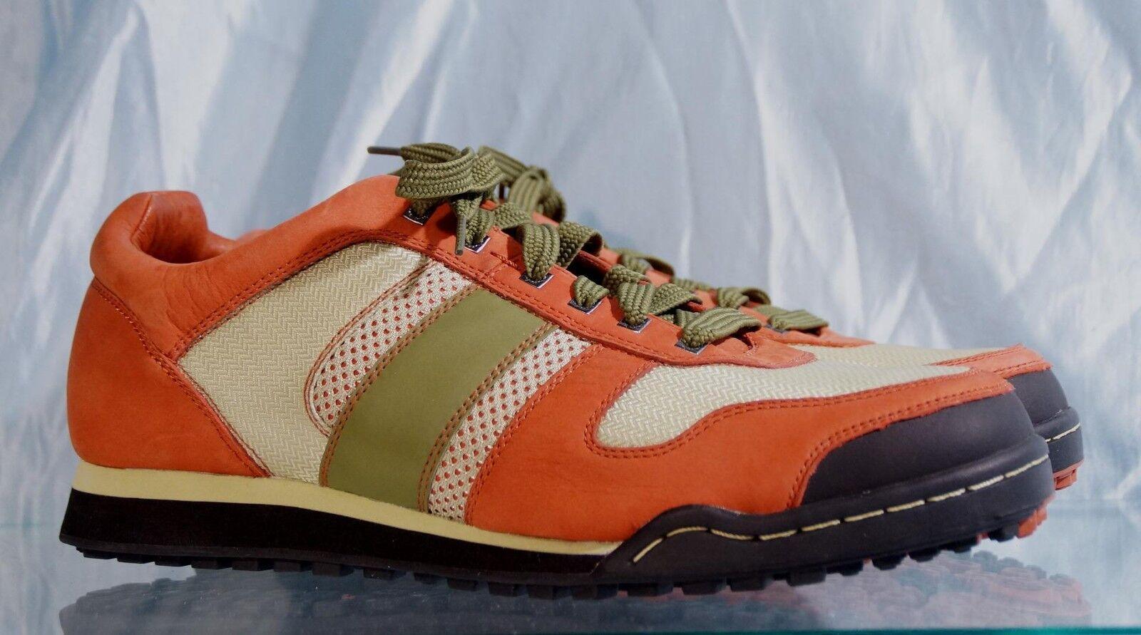 New No Box orange & Green JHUNG YURO Low Top Hikers Sz 13