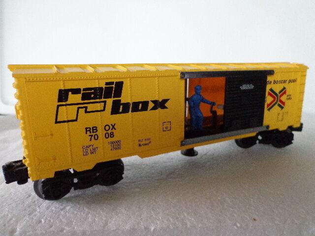 K-line 7008  o  0 27 Ferrocarril Caja operativo Box Car rbox 7008