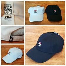 Fila White 6 Panel Unstructured Strapback Hat