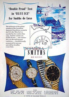 Original Art Print AD 1950s Smith/'s /'De Luxe/' Wristwatches ADVERT #1