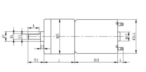 DC24V 863RPM Gear Motor Torque Electric Intelligent Robot Smart car motor 24.4mm