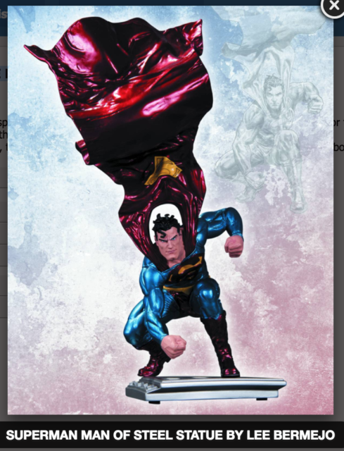 SUPERMAN THE MAN OF STEEL STATUE BY LEE BERMEJO DC COMICS (FACTORY SEALED, MIB)