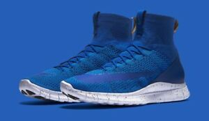 Image is loading Nike-Free-Mercurial-Superfly-Flyknit-Royal-Blue-Size-