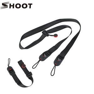 Quick Release DSLR Camera Cuff Wrist Belt +Leash Shoulder Strap Sling ABS Buckle