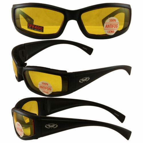 Motorcycle Glasses Sunglasses Padded Police EMT Riding Moped ATV Cycling Moped
