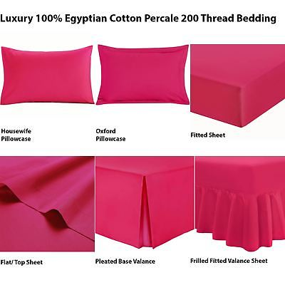 Nimsay Home Deluxe Soft 200 Thread Count 100/% Egyptian Cotton Percale Plain Dyed Flat//Top Bed Sheet Cream Double