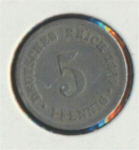 German-Empire-Jagerno-3-1889-J-very-fine-Copper-Nickel-1889-5-Pfennig-7849332