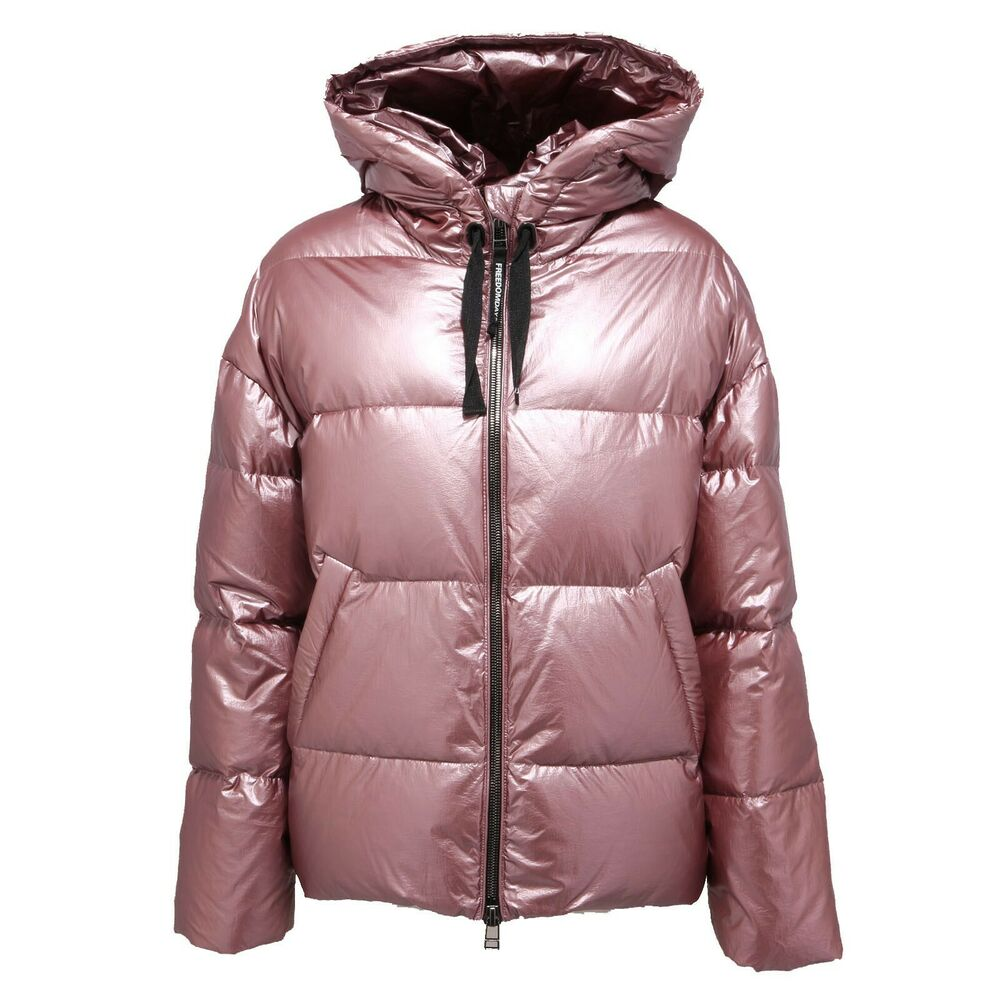 1448ac Giubbotto Donna Freedomday Vriga Metallic Pink Jacket Women
