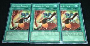 Yugioh Double Attack DR3-EN220 NM//MINT Common 3X Unlimited Dark Revelation 3