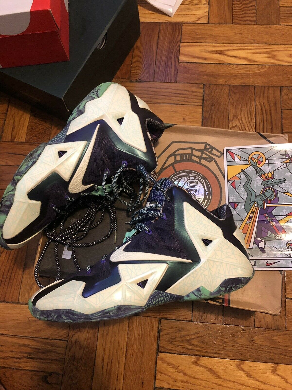 Lebron 11 All Star Gator King size 12 Gumbo league