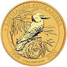 2020 P Australia Gold Kookaburra 1/10 oz $15 - BU