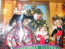 1998 Mattel Special Ed. Holiday Sisters Gift Set Barbie, Stacy, Kelly New in Box