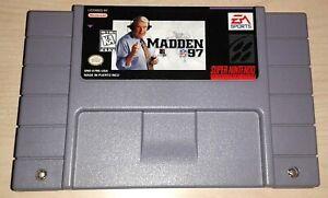 Madden NFL 97 Football Super Nintendo SNES Vintage original retro game cartridge