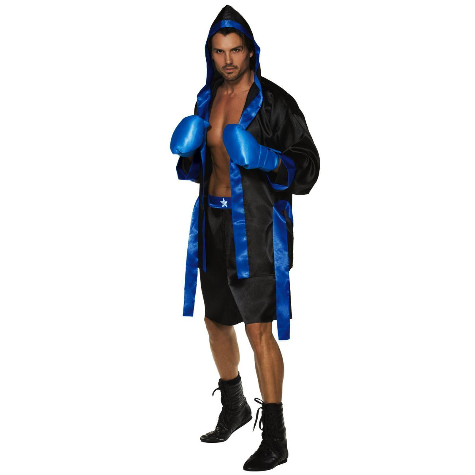 Adulto Adulto Adulto UOMO BOXING PUGILE FIGHTER Sports Champion ROBE Guanti Costume 304f52