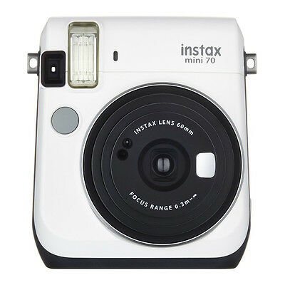White Colour FujiFilm Fuji Instax Mini 70 Instant Photos Films Polaroid Camera