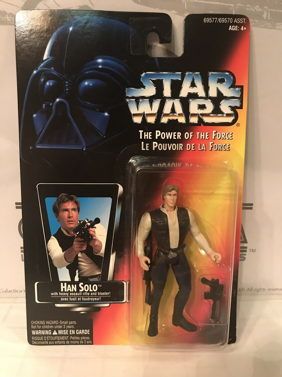 Star Wars The Power Of The Force Han Solo French Canadian Square Card