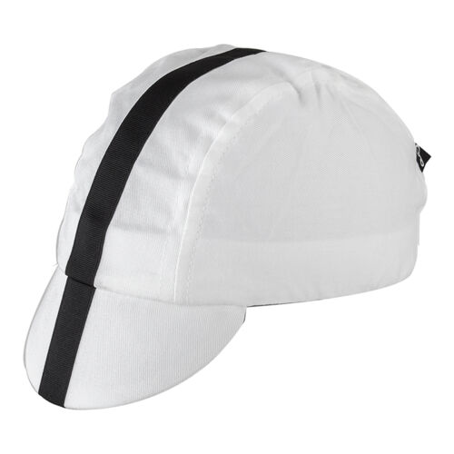 CLASSIC BICYCLE BIKE CYCLING CAP BEANIE HAT WHITE AND BLACK NEW