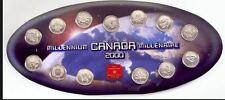 CANADA 2000 MILLENNIUM 25 CENT COINS SET BEAUTY!