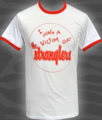 Homme Ringer Contraste T-shirt STRANGLERS rattus norvegicus Original Punk S-2XL