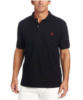 Men's Solid Short Sleeve U.S.P.A Polo Shirt Size S-2XL