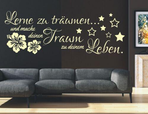X945 Wall Tattoo Slogan-Learn To Dream DREAM LIVE Wall Sticker Wall Decal