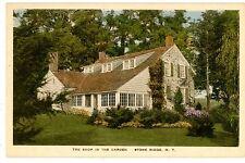 Stone Ridge NY - THE SHOP IN THE GARDEN - Handcolored Postcard Dutch Colonial