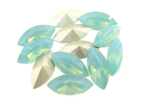 Swarovski Foiled Xilion Navette Stones Art.4228 15x7mm Pacific Opal 12 Pieces cc
