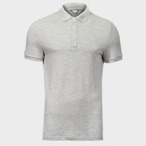 43c1d4a22 Details about C&A Ex Chainstore Men's Piqué Polo Shirt short sleeve T-shirt  Grey Cotton Fit