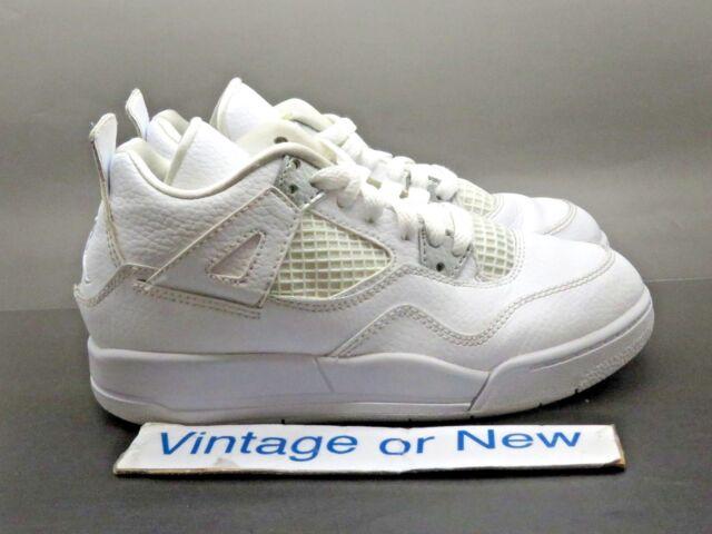 size 40 355e1 159bf Nike Air Jordan IV 4 Pure Money Retro BP 2017 sz 1.5Y
