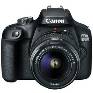 Canon-EOS-2000D-Rebel-T7-24-1MP-CMOS-1080p-DSLR-Camera-EF-S-objectif-18-55-mm