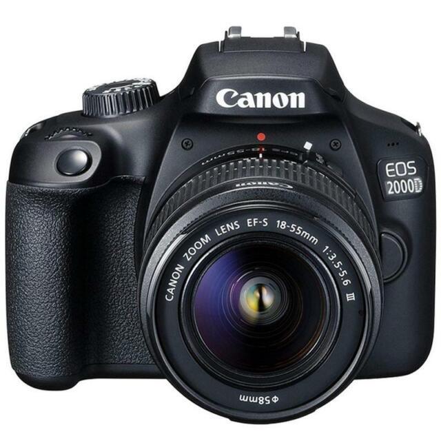 Canon EOS 2000D / Rebel T7 24 1MP CMOS 1080p DSLR Camera + EF-S 18-55mm Lens
