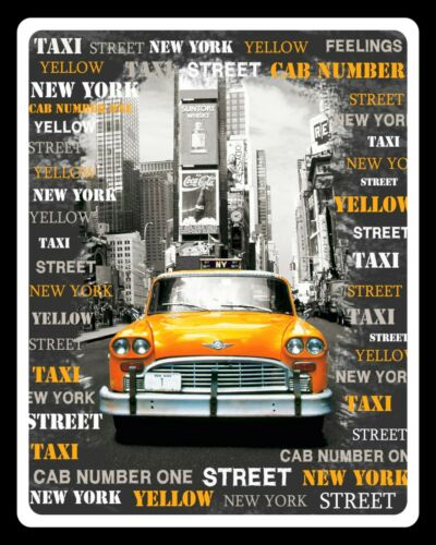 NEW YORK YELLOW CAB TAXI TIMES SQUARE METAL PLAQUE TIN SIGN OTHERS LISTED 740 Home, Furniture & DIY