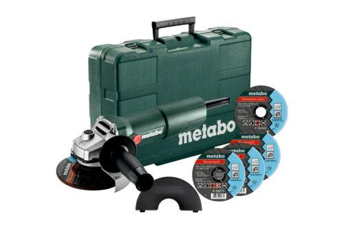 2.Wahl Koffer Metabo W 750-125 SET Winkelschleifer Inox Scheiben 603605680