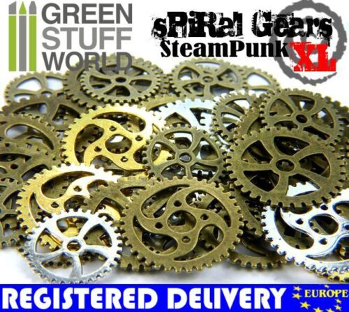 SPIRAL Cogs and Gears Steampunk Set 85 gr XL Size Jewellery Making