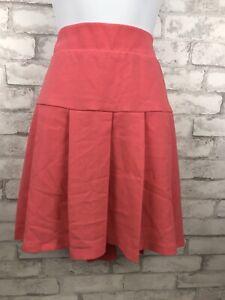 Torrid Coral Pink Textured Pleated Mini Flare Skirt Plus Size 16