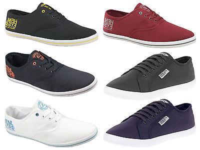 Mens Henleys Crosshatch  Lace Up Logo Canvas Shoe Pumps Trainers Plimsolls