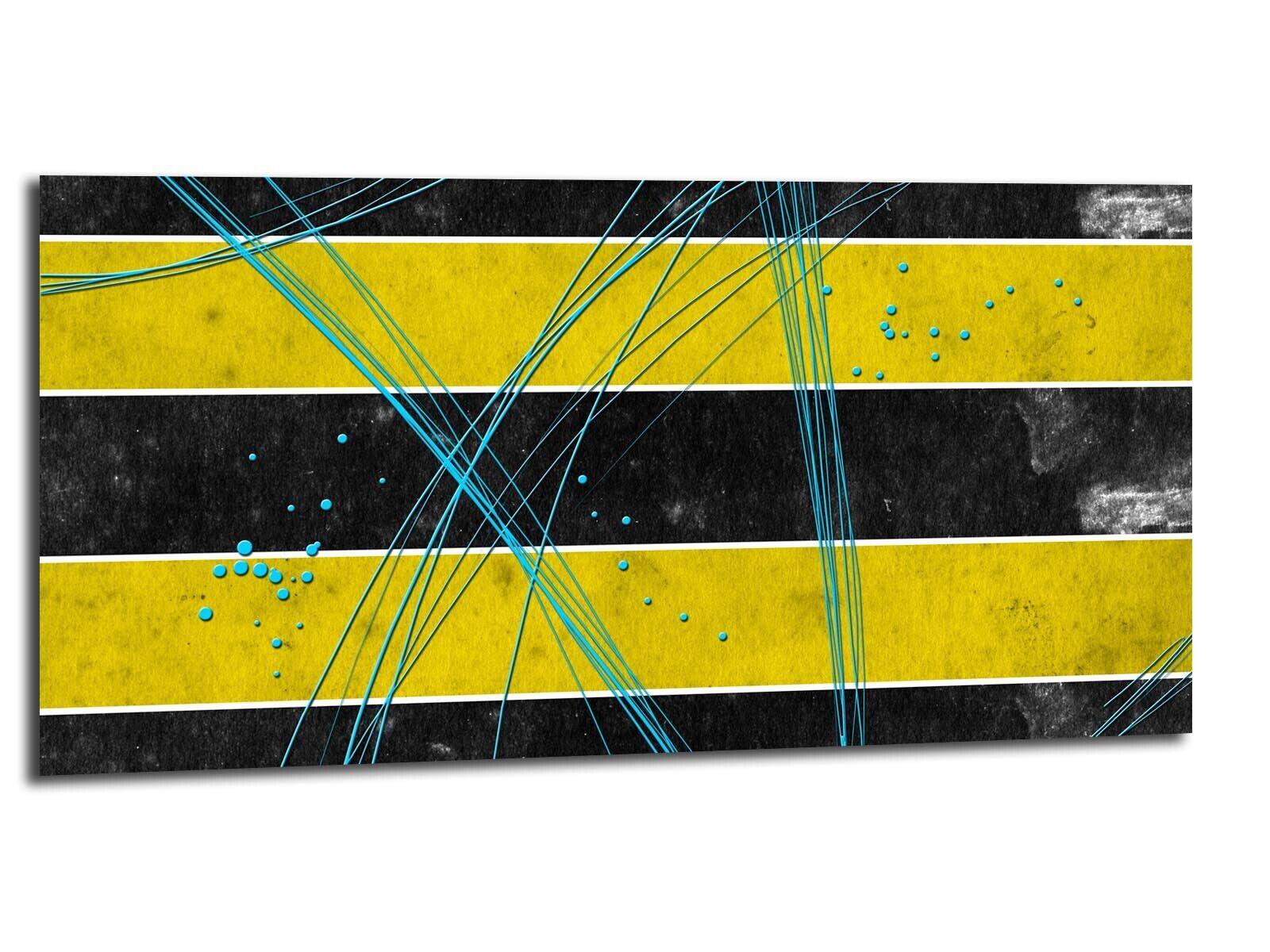 Alu-Dibond Bild ALU100501491 FADE STYLE GELB 100 x 50 cm Wandbild ABSTRAKT