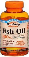 Sundown Naturals Fish Oil 1000 Mg Softgels 120 Soft Gels (pack Of 4) on sale