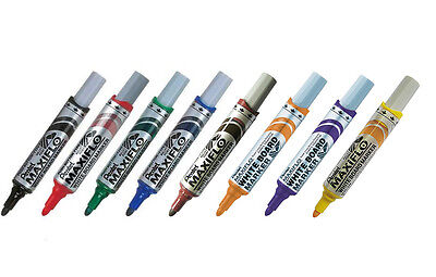 -MIX Pentel MAXIFLO MWL5S Assorted Fine Bullet Point Whiteboard Markers 8pcs