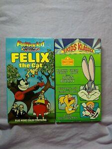 Felix-The-Cat-amp-Kids-Classics-Bugs-Bunny-VHS-Lot-Classic-Cartoon-Animation-Lot