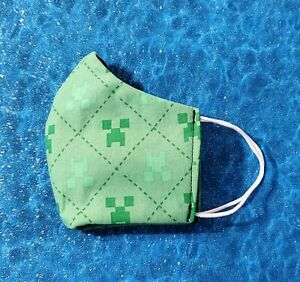 Washable Handmade Fabric Face Mask Filter Pocket Minecraft Ebay