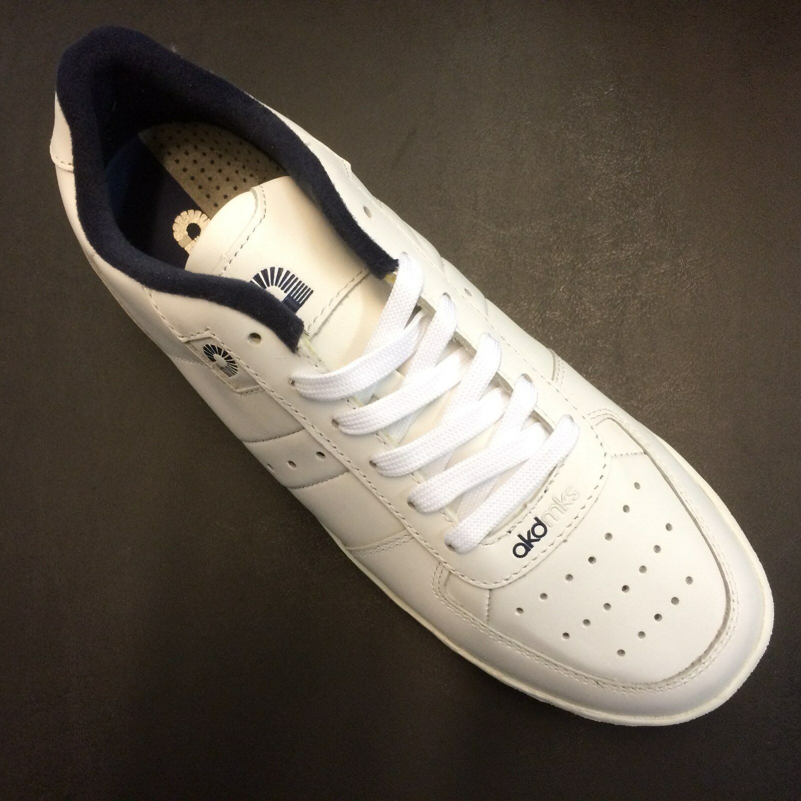 Uomo akademiks INTELLECT White/Navy Low Top Shoes AMA001-119