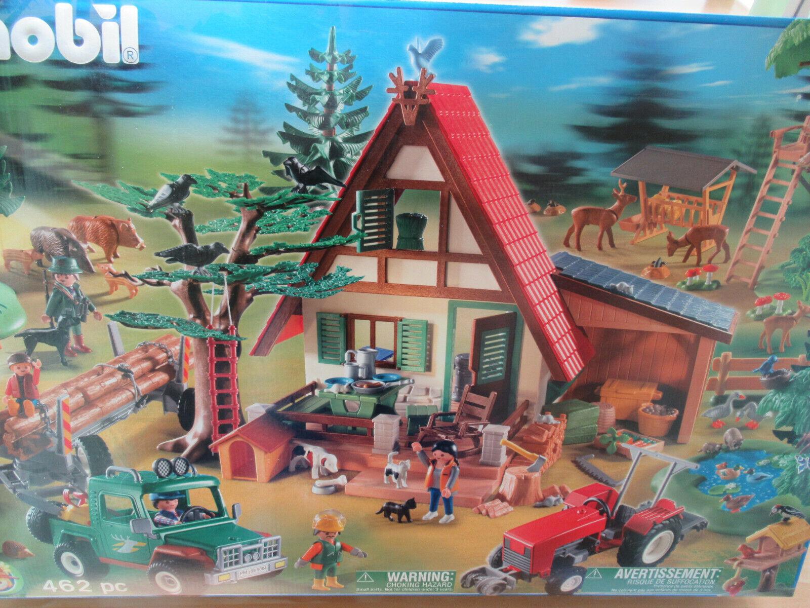 Nouveau Playmobil 5004 Forsthaus Mega Set Spécial Série Galeria sapes dans neuf dans sa boîte AD