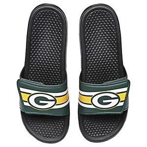 8baf9387f6e1 NFL Green Bay Packers Team Logo Legacy Shower Slide Flip Flop ...