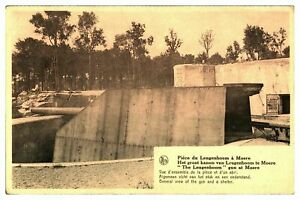 Antique-WW1-military-printed-postcard-Dunkirk-General-View-of-The-Gun-amp-Shelter