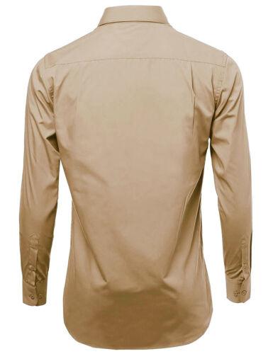 Men/'s Classic Fit Long Sleeve Wrinkle Resistant Button Down Premium Dress Shirt