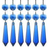 H&d Crystal Chandelier Icicle U-drop Prisms 55mm Pack Of 10 (cobalt Blue), New,