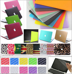 """3in1 Rubberized Matte Hard Case Cover for Macbook Air White Pro 11"""" 13"""" 15"""" inch"""