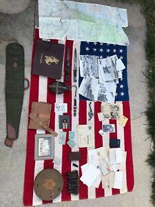 WWII-War-Hero-353rd-Infantry-Named-John-I-Binns-War-Relic-Memorabilia-Flag-Lot